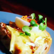 Bath soft rarebit with grilled egg